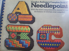 ABC Needlepoint Book - $20.00
