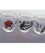 VINTAGE SHORT SNORT SHOT GLASSES - Set of 3  - Uniquely Themed - $55.00