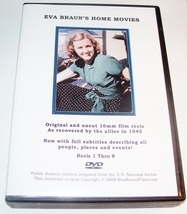 EVA BRAUN'S HOME MOVIES, COMPLETE 8 DVD-R SET, ENGLISH SUBTITLES! - $35.00