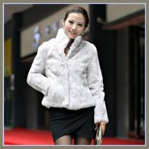 Elegant Soft Mink Faux Fur Coat Jacket with Mandarin Collar in 6 Colors image 3