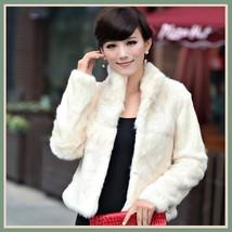 Elegant Soft Mink Faux Fur Coat Jacket with Mandarin Collar in 6 Colors image 4