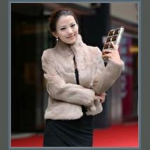 Elegant Soft Mink Faux Fur Coat Jacket with Mandarin Collar in 6 Colors image 5