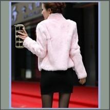 Elegant Soft Mink Faux Fur Coat Jacket with Mandarin Collar in 6 Colors image 6