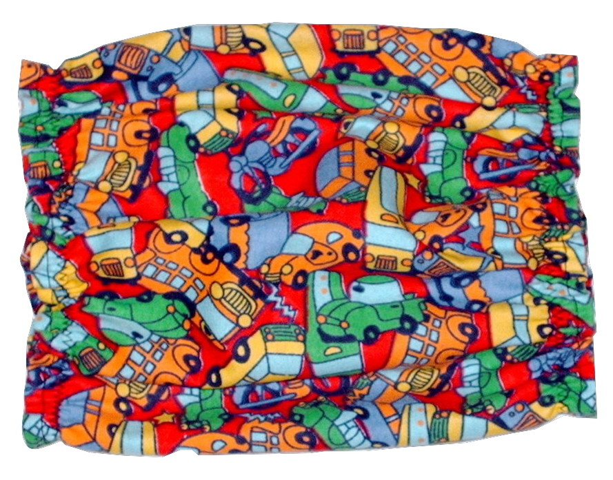 Primary image for Brightly Colored Cars Buses Trucks Cotton Flannel Puppy SHORT Snood CLEARANCE