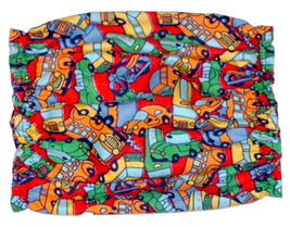Brightly Colored Cars Buses Trucks Cotton Flannel Puppy SHORT Snood CLEA... - $4.75