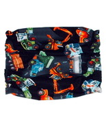 Construction Vehicles Black Cotton Dog Snood Size Puppy SHORT CLEARANCE - $4.75