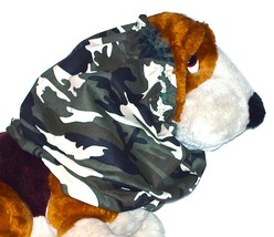 Dog Snood Camouflage Green Black Off White Midweight Cotton Twill-Sz Pup... - $9.50