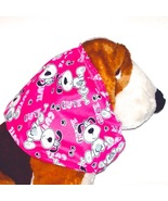 Dog Snood-Cute Pups Bright Pink Cotton-Puppy SHORT-Cavalier King Charles... - $9.50