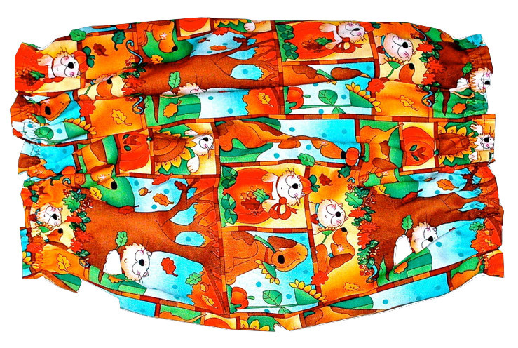 Dog Snood Autumn Hounds and Cats Cotton Block Print Cavalier Cocker Puppy SHORT