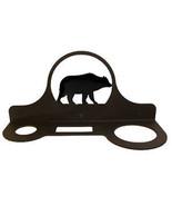 Wrought Iron Mountable Hair Dryer Rack Bear Bathroom Home Decor Caddy Ha... - $25.99