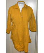 vintage KOMMOTION NY 70s 3/4 sleeve BLOUSE sz L LONG SLEEVE Mustard yellow - $15.99
