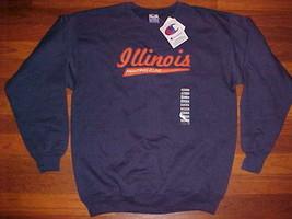 Champion NCAA Big Ten Illinois Fighting Illini Men Blue Fleece Sweatshirt M New - $34.64