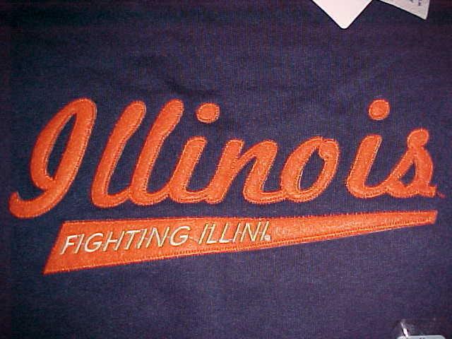 Champion NCAA Big Ten Illinois Fighting Illini Men Blue Fleece Sweatshirt M New