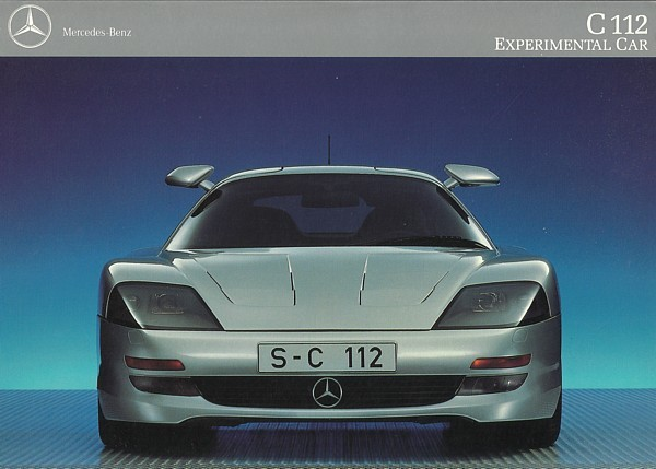 Primary image for 1991/1992 Mercedes-Benz C112 GULLWING CONCEPT F1 brochure catalog US HTF