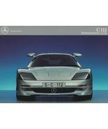 1991/1992 Mercedes-Benz C112 GULLWING CONCEPT F1 brochure folder US HTF - $10.00