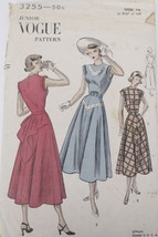 Sewing Pattern Vogue #3255 Size 15 Bust 33 Hip 37  1950s New Look Dress ... - $22.30