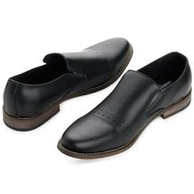 ALPINE SWISS DOUBLE DIAMOND MEN'S OXFORD SLIP-ON LEATHER LOAFERS DRESS SHOES image 5