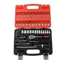 "VODOOL 46Pcs/Set Portable Car Ratchet Wrench Spanner Set 1/4"" 4-14 mm Sl... - $32.95"