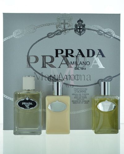 Prada infusion d  homme 3.4 oz cologne 3 pcs set