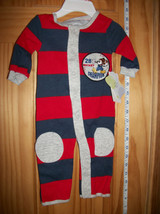 Disney Baby Clothes 0M-3M Mickey Mouse Playsuit Football Long Sleeve Jum... - $14.24