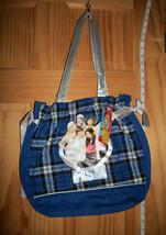 Disney Girl Fashion HSM High School Musical Handbag Purse Blue Plaid Han... - $12.34