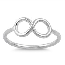 Sterling Silver Infinity ring size 6 Eternity Love Knot Promise New 925 p31 - $8.76