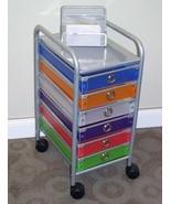 6 Drawer Rolling Storage Home Office School Craft Organizer Cart Wheels ... - $93.90