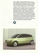 1991/1992 BMW E2 Electric CONCEPT sales brochure catalog US VHTF - $8.00