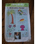 Vintage Embroidery Transfers Simplicity 6198 - $5.00