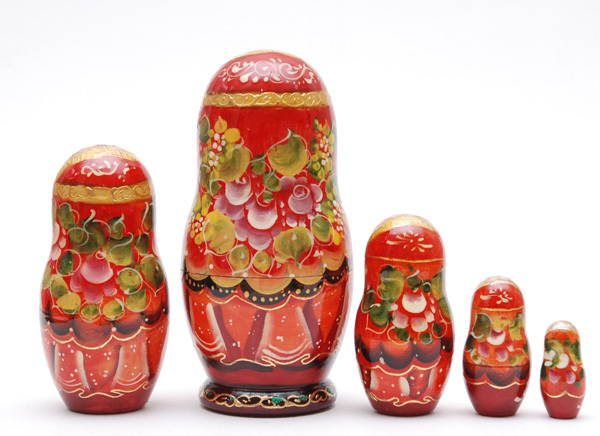 Exclusive Russian Sergiev Posad Fairy-tale nesting doll 5 pc Free Shipping plus