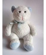 Animal Alley Baby Teddy Bear White Blue Sewn Ey... - $10.50