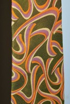 Vintage Chadwick by Wembley Polyester Necktie Geometric Abstract Green O... - $29.69
