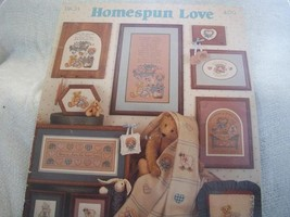 Homespun Love Cross Stitch Chart - $4.00