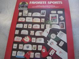 Favorite Sports Cross Stitch Chart - $4.00
