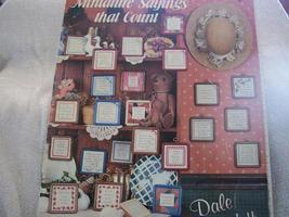 Miniature Sayings That Count Cross Stitch Charts - $4.00