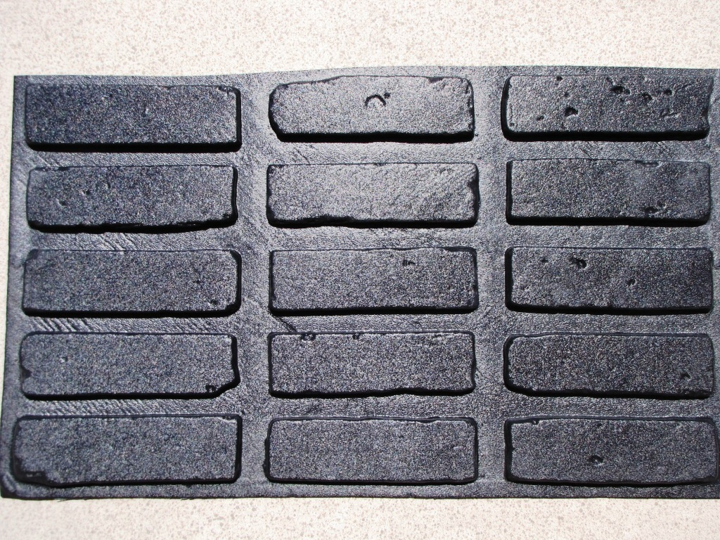 36 MOLDS & SUPPLIES KIT TO CRAFT 1000s OF BRICK VENEER TILE FOR ABOUT $0.08 EACH
