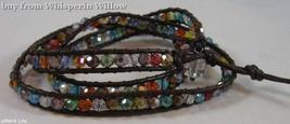 Multi- Colored Crystal Fashion Wrap Bracelet - $27.95