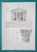 CORI Italy Temple of Castor & Pollux Facade Details -  SUPERB 1905 Espou... - $22.95