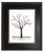 13x19 TREE 104 Wedding Fingerprint Guest Book Tree, Wedding Guestbook po... - $50.90