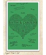 13x19 WEDDING GUEST BOOK, Wedding Heart Guest Book, Guestbook alternativ... - $50.90