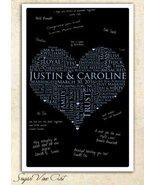 11X17 WEDDING GUEST BOOK, Wedding Heart Guest Book, Guestbook alternativ... - $46.40