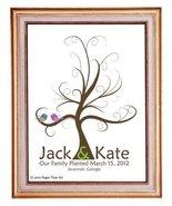 11x17 TREE 105 Wedding Fingerprint Guest Book Tree, Thumbprint Tree Gues... - $46.40