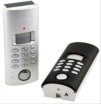 Solar Powered Motion Activated Alarm with Auto-dialer Keypad or Key Pad - $34.99