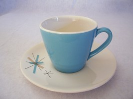 Eames Salem China North Star Cup Saucer MidCentury Modern - $26.95