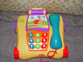 Fisher Price Pull Along Talking Telephone  2009 - $17.00