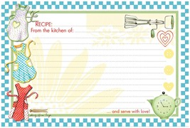 Retro Aprons Recipe Card - $5.99