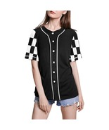 Women's Baseball Jersey with Black and White Short Sleeve Sleeves - $49.99