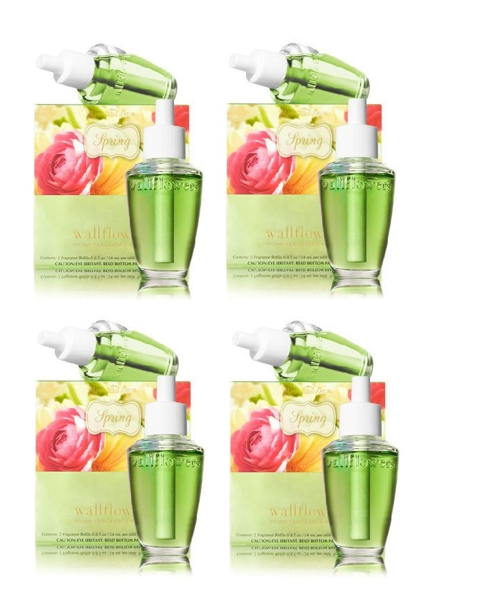 Primary image for 4 Bath & Body Works White Barn Spring Wallflower Refill Fragrance Bulbs 2 Pack