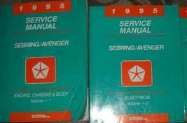 1995 Chrysler Sebring Dodge Avenger Shop Reparatur Service Manual Set OE... - $8.89