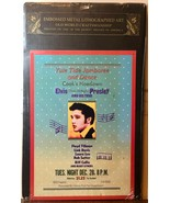 Elvis Presley Yule Tide Jamboree Embossed Metal Tin Litho Poster Officia... - $18.70